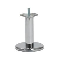 Meubelpootjes Chromen ronde meubelpoot 10 cm (M8)