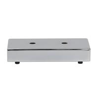 Meubelpootjes Chromen rechthoek meubelpoot 3,5 cm