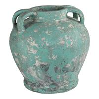 PTMD Belly Pot Sarong Green Ceramic 4 Ears S