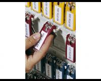 Key clip sleutelhanger Rood. 25 (pak 6 stuks)