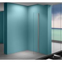 Praya Eco zijwand met muurprofiel 400 x 2000 . 8 mm Nano