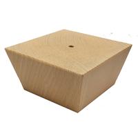 Meubelpootjes Houten trapezium meubelpoot 8 cm