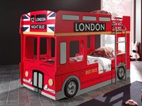 Mobistoxx Stapelbed BUS LONDEN 90x200 cm rood