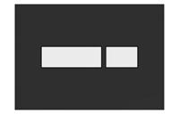 Plieger Flair bedieningspaneel zwart/wit