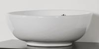 Sanitop Opbouwwastafel keramiek Kos (440x440x175 mm)