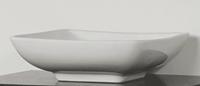 Sanitop Opbouwwastafel Keramiek Quadra (415x415x125 mm)