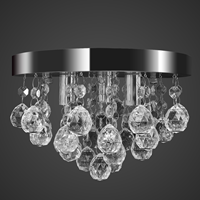 VidaXL Plafondlamp kroonluchterontwerp kristal chroom