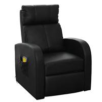 vidaXL Massagestoel elektrisch met afstandsbediening zwart