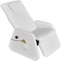 VidaXL Elektrische massagestoel/relaxfauteuil kunstleer wit