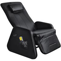 vidaXL Elektrische massagestoel/relaxfauteuil kunstleer zwart