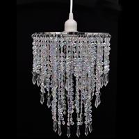 Vidaxl Kroonluchter met kristallen 22,5 x 30,5 cm
