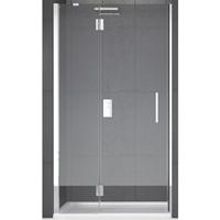 Novellini Louvre G douchedeur hoogte 1950mm type deur draai met vast paneel deur veiligheidsglas