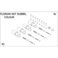 Plieger Florian Nxt bevestigingsset designradiator dubbel Florian Nxt donkergrijs (RAL7024) 7253883