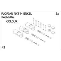 Plieger bevestigingsset designradiator enkel Florian Nxt M Palmyra donkergrijs structuur 7253909
