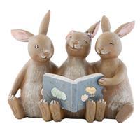 Clayre & Eef Decoratie konijn 14x10x12 cm