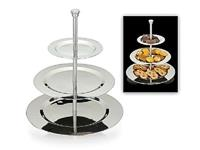 Excellent Houseware EH Etagere RVS Rond 3 Laags
