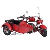 Clayre & Eef Model motor met zijspan 18x14x11 cm