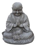 Farmwoodanimals Boeddha Dikbuik Groot 51X38X53 Cm Licht Grijs Fiberclay