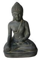 Farmwoodanimals Boeddha Zit 43X31X60 Cm Donker Grijs Fiberclay