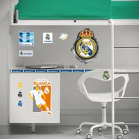 Real Madrid muursticker logo in hole 2 stickervellen