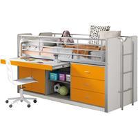 Vipack halfhoogslaper Bonny - oranje - 207x96x116 cm