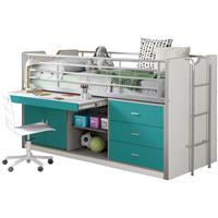 Vipack halfhoogslaper Bonny - turquoise - 207x96x116 cm