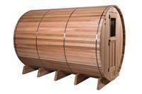 Barrel Sauna Rustic Grandview 7+3 - Fonteyn