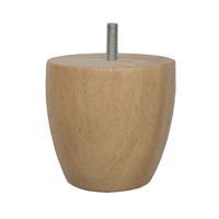 Meubelpootjes Ronde houten meubelpoot 8 cm (M8)