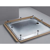Bette douchebakdrager/-poten/-frame frame staal (lxbxh) 1200x1000x65 - 120mm verzwaarde uitvoering