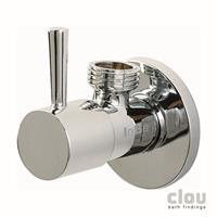 Clou InBe design hoekstopkraan rond chroom