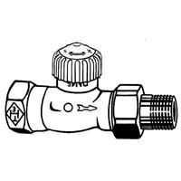 Heimeier V-exakt radiatorafsluiter uitvoering staartstuk/binnendraad recht thermostatisch voorbereid