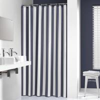 Sealskin douchegordijn Linje 100% polyester blauw print 180x200 cm