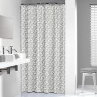 Sealskin douchegordijn Piega 100% polyester grijs print 180x200 cm