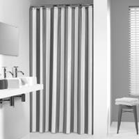 Sealskin douchegordijn Linje 100% polyester grijs print 180x200 cm