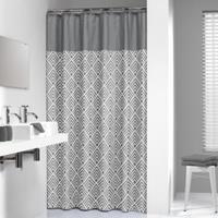 Sealskin douchegordijn Angoli 100% polyester grijs print 180x200 cm