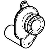 Geberit urinoirsifon horizontaal