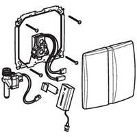 Geberit urinoir bedieningspaneel infrarood batterij, mat chroom