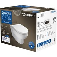 Duravit DuraStyle Basic wandcloset rimless pack met softclose zitting wit