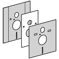 Geberit Duofix afdekplaat wandcloset inbouw reservoir verstelbaar rvs look