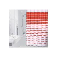 Differnz Douchegordijn  Lineae Polyester 180x200 cm Rood