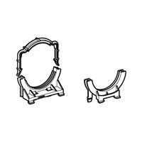 Duofix klembeugel voor afvoerbocht dupfix