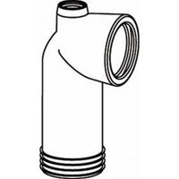 Wisa closetafvoerbocht aansluitingvoor fontein of beluchter wit 7010120950