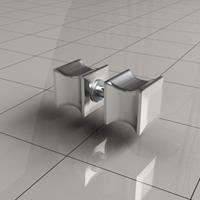 Wiesbaden losse deurknop type 5, chroom