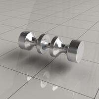 Wiesbaden losse deurknop type 3 chroom