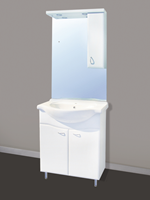 Badstuber Sanremo staand badkamermeubel 75cm wit