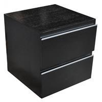 Wiesbaden Modul Ladekast 450x450 houtnerf zwart gelakt