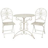 Clayre & Eef Tafel + 2 stoelen Ø 70x74/40x45x95 cm