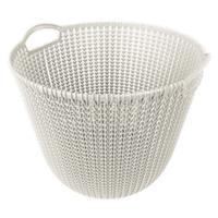 Curver knit mandje rond oasis white 30 liter