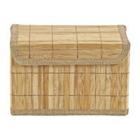 Opbergmand bamboe latjes - 14x25x16 cm