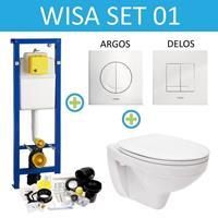 WISA XS Toiletset set01 Boss & Wessing Basic Smart met Argos of Delos drukplaat